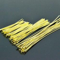 Chiodini a Testa Piatta in ottone col oro filo 0.65 mm testa 1.6 mm per bigiotteria