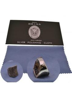 PANNO PER PULIRE LUCIDARE ORO ARGENTO gioielli 17 cm x 17 cm