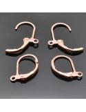 monachelle chiuse in ottone 11x13 mm per orecchini 4 pz col varia bigiotteria