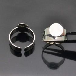 Basi per anello con piastra 10mm in ottone Anello regolabile da decorare 2pz