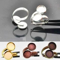 Basi per anello in ottone Con Castoni 10mm Basi per Cammeo Cabochon 1 pz