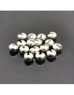 Coprischiaccini liscia in ottone placcata argento coprire gli schiaccini 4mm 5mm 6mm per bigiotteria