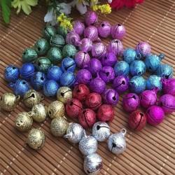 Campanello Campanellini Sonaglio Satinato colorati 8mm 10 Pz Charm Ciondoli per bigiotteria