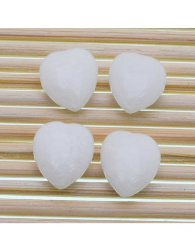 Orecchini pendenti agata angelite cuore in legno