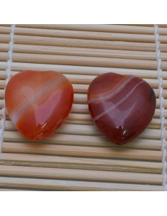 Pietre a forma di cuore corniola liscia 25 mm per orecchini bracciali collana