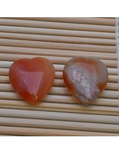 Pietre a forma di cuore corniola liscia 20 mm per orecchini bracciali collana