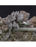Anello Fiore con zirconi in argento 925%