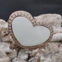 Anello Cuore rosa con zirconi in argento 925%