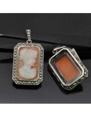 Ciondoli con Cammeo in argento 925% 30x20 mm