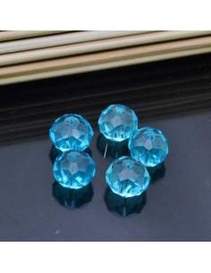 Perline rondelle di mezzo cristallo briolette 12mm 4pz per bigiotteria