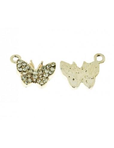 Ciondoli 2 Pz. farfalle con brillanti
