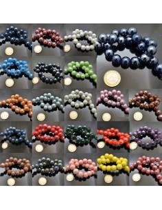 filo perla in ceramica 14/15 mm smaltata per bijoux collana bracciale orecchini 25PZ
