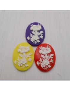 2 pz Cameo Cabochon in resina 29.5 x 39.5 mm per crema gioiello per BIGIOTTERIA