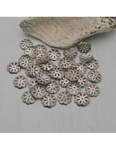 60 Pz. Copri perline a fiore