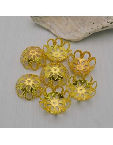 10 Pz. Copri perline Oro
