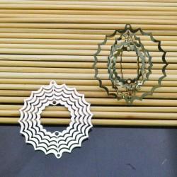 filigrana inox acciaio Ciondolo 40 mm per gioielli