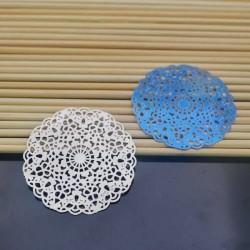 filigrana inox acciaio Ciondolo col blu 40 mm per gioielli