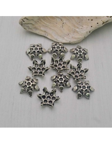 6 Pz. Copri perla traforati stella