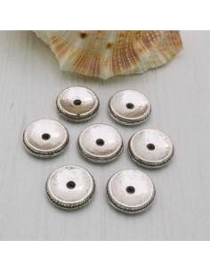 Distanziatore a rondella piatta a disco piccola 10 mm 8 pz in metallo per bigiotteria
