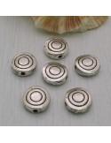 Distanziatori piatta Inframezzi Tondi con cerchi 10 mm 8 Pz. per Bigiotteria