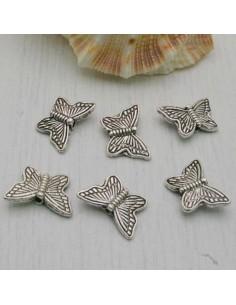 DISTANZIATORI PIATTA DI farfalla lavorata 9 mm 6 PZ PER BIGIOTTERIA