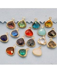 chams in ottone e cristallo 10 x 13 mm da abbinare a orecchini, collane gioielli