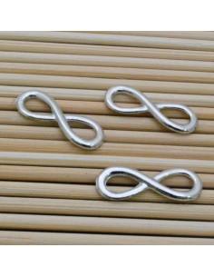 ciondolo connettore Infinito colore argento 23 x 7 mm 3 pz per bigiotteria