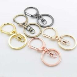 moschettone per porta chiavi borse 60 mm con anelli 30 mm per tue creazioni