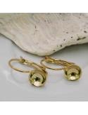 1 Paio monachelle chiuse incollo con coppette 8 mm in ottone per orecchini bijoux