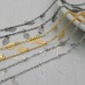 catene in ottone con chams foglia 5 x 8 mm catena forma ovale 1.7 x 2.4 mm per bigiotteria