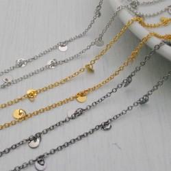 catene in ottone con chams medaglioni 4 mm catena forma ovale 1.7 x 2.4 mm per bigiotteria
