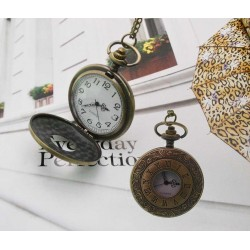 collana orologio tasca Stile Vintage ciondolo e con orologio funzionante