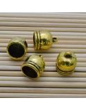 4 Pz. Capicorda per cordone oro, rame