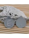 1 Pz. Ciondolo lettere tonde in metallo