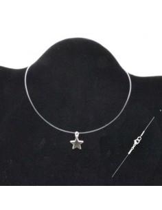 Base per collana filo in nylon bava trasparente 0.4 mm 38 - 50cm varia misura per tuoi pendente