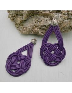 base nodo cinese per orecchini CORDINO CERATO col viola per tuoi gioielli
