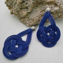 base nodo cinese per orecchini CORDINO CERATO col plu scuro per tuoi gioielli