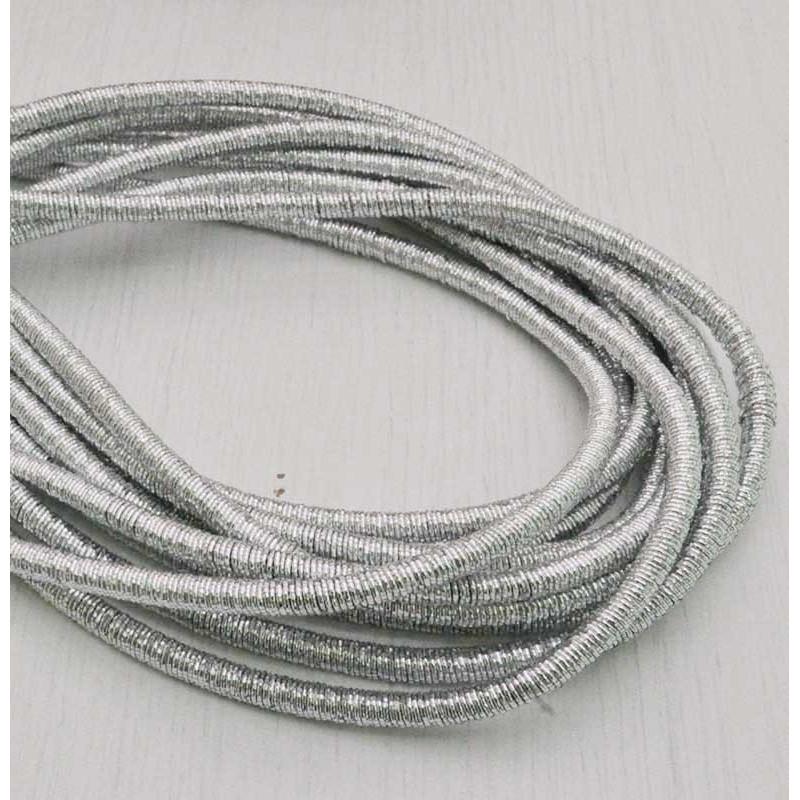 filo metallico ricoperto lurex col argento per base orecchini collana bracciali per tuoi gioielli
