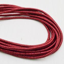 filo metallico ricoperto lurex col rosso per base orecchini collana bracciali  per tuoi gioielli