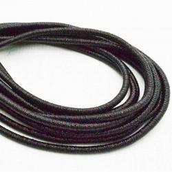 filo metallico ricoperto lurex col nero per base orecchini collana bracciali  per tuoi gioielli