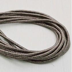 filo metallico ricoperto lurex col marrone chiaro per base orecchini collana bracciali  per tuoi gioielli