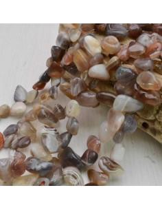 filo pietre dure naturale sasso Agata botswana qualità 5 x 15 mm