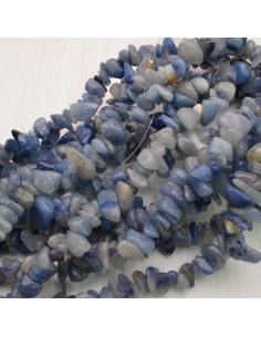 perline in pietra chips agata blu Sassolini per bigiotteria 5x9 mm circa 200pz filo 90cm
