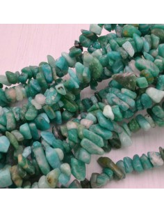 perline in pietra chips amazonite verde Sassolini per bigiotteria 5x9 mm circa 200pz filo 90cm
