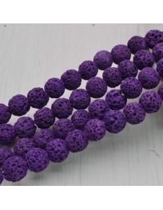pietra lavica rotondo grezzo col viola 6 mm 8 mm per tuoi gioielli