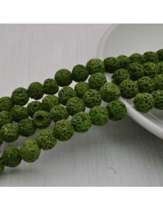 pietra lavica rotondo grezzo col verde chiaro 6 mm 8 mm per tuoi gioielli