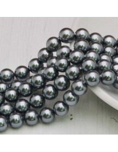 Perle Di Madreperla rotondo col grigio 6 mm 51 pz per tuoi gioielli
