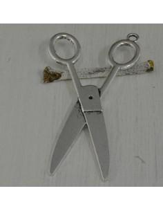 ciondolo a forma di forbici aperte 45 x 75 mm per bigiotteria