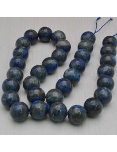 FILO PIETRE DI LAPISLAZZULI tondo liscio 12 mm 32 pz per tuoi gioielli