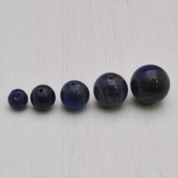lapislazzuli blu tondo liscio 3 mm - 20 mm di sfuse per tuoi gioielli